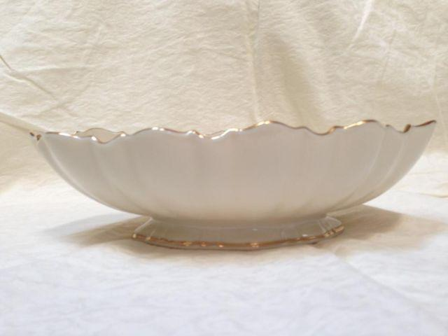 Lenox Ivory Gold Trim Footed Serving Bowl For Sale In