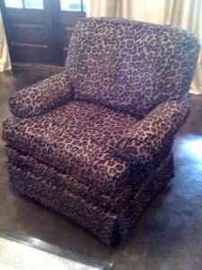 Leopard print swivel/rocker club chairs - $375 : leopard recliner chair - islam-shia.org
