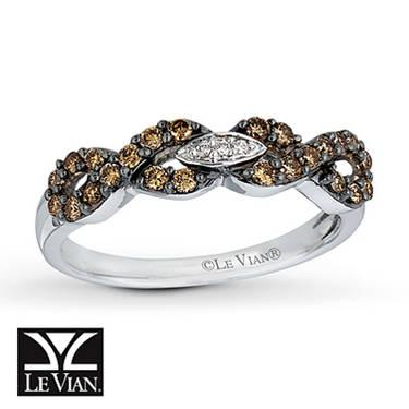 LeVian Chocolate Diamond 34 Carat 14k White Gold For Sale
