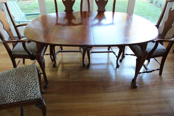 Lexington Cherry Dining Table, 6 Chairs, Credenza,