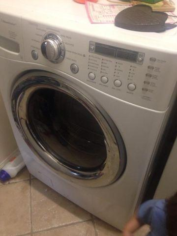 Lg front load washer and gas dryer