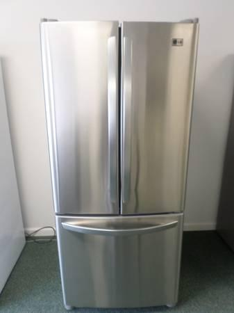 Lg Stainless Steelfrench Doorbottom Freezer Fridge For Sale In
