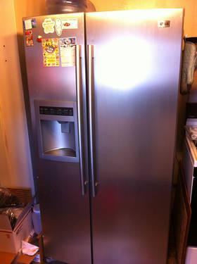 Lg Stainless Steel Side By Side Refrigerator Ice And Water