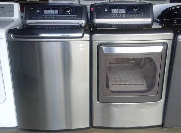 Lg Washer And Dryer Beautiful Stainless Steel Set
