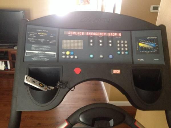 Life fitness 9500hr treadmill - $300