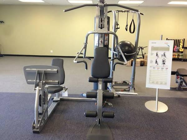 Life fitness g home gym w leg press for sale in edmond
