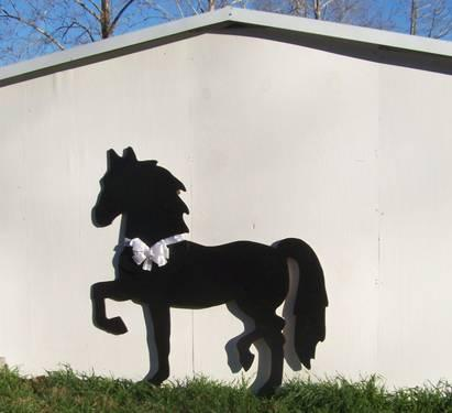 Life size Pony Shadow art - Moma Bear & cubs Cowboy