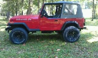 Lifted 1990 Jeep Wrangler 5 Spd