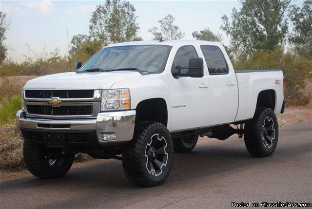 lifted 2007 chevrolet silverado 2500hd ltz truck crew cab. Black Bedroom Furniture Sets. Home Design Ideas