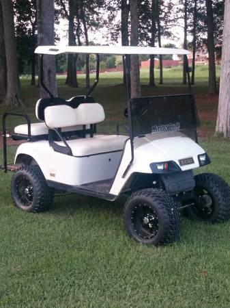 LIFTED GOLF CART WITH BACK SEAT - for Sale in Murfreesboro ... on golf cart accessories rear seats, golf cart front bucket seats, ez go golf cart seats, ezgo golf cart custom seats, ezgo golf cart replacement seats, cheap gas golf carts,
