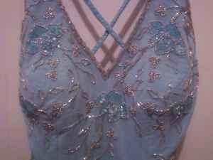 Light Blue, Beaded Prom/Party Dress - $60 (Princeton,