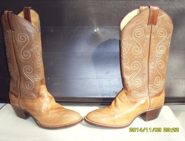 0ba73c1cfb9 Light Brown Eel cowboy men's boots by Justin size 8 C for Sale in ...