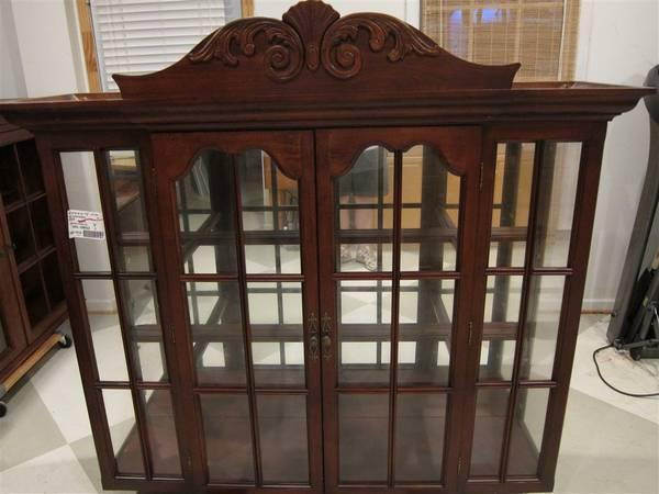 Lighted China Cabinet Top With Mirrored Back Universal