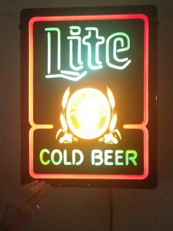 Lighted Miller Lite Beer Sign