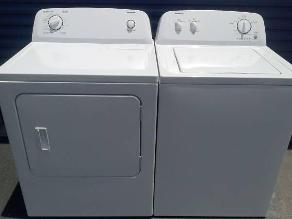 like new admiral washer gas dryer set delivered  installed