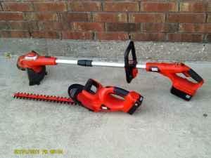 like new battery operated black and decker weed eater and hedger killeen for sale in. Black Bedroom Furniture Sets. Home Design Ideas