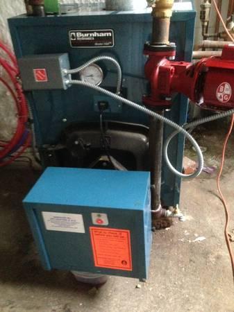 Like New Burnham Oil Boiler with Burner, NEW B&G Pump & Expansion ...