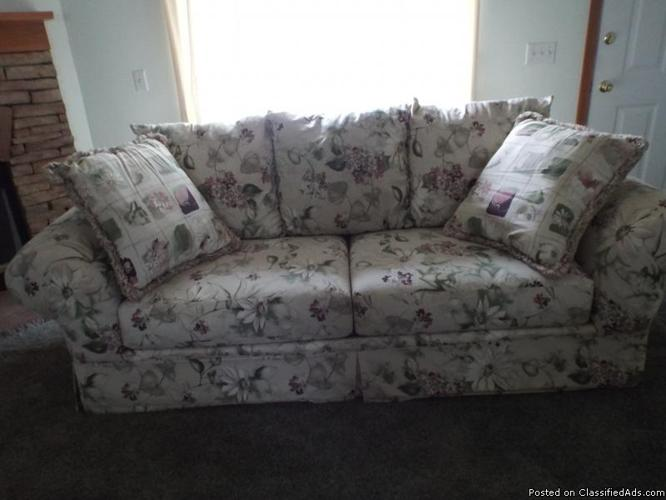 Like new beautiful large sofa by sealy furniture for sale for Long couches for sale