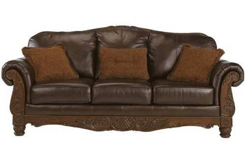 Like New Northshore Brown Leather Sofa Couch 6 Months Old