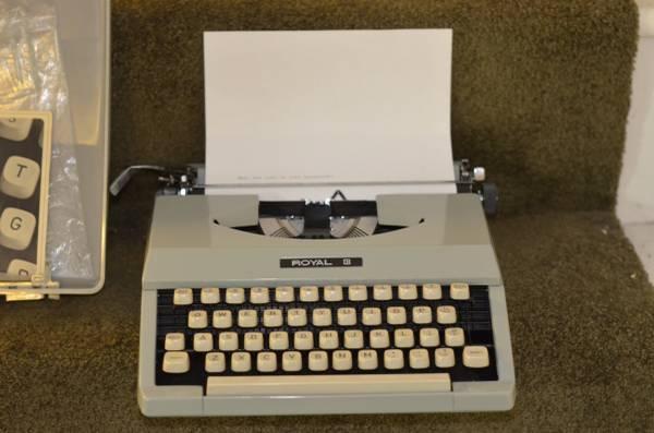 Like New Royal Signet Portable Typewriter - $50