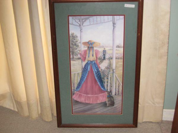 Limited signed print by glynda turley calling on callie for Glynda turley painting