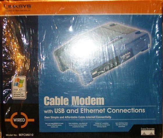 LINKSYS 10/100 Base-T Cable Modem with USB and Ethernet