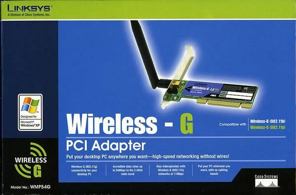 Linksys WMP54G wirelesds adapter - $10