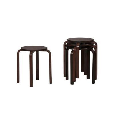 Linon Home Decor 17-1/2 in. Stacking Stool (4-Pack)