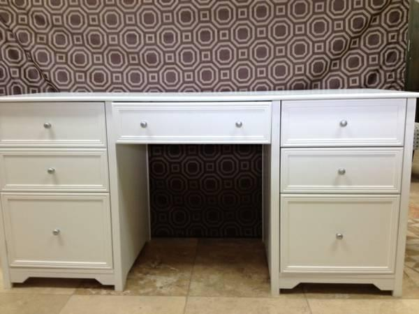 Liquidation Sale White Desk IKEA Cabinets Wall Art Days Only For - Art desks for sale