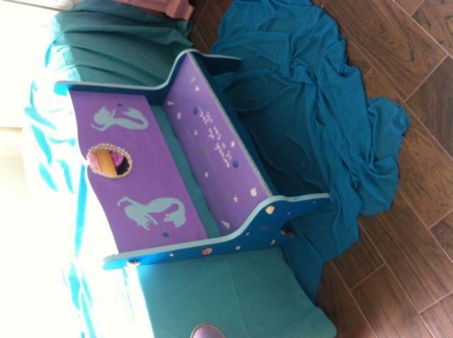 little girl 39 s mermaid time out bench chair for sale in cooper city florida classified. Black Bedroom Furniture Sets. Home Design Ideas