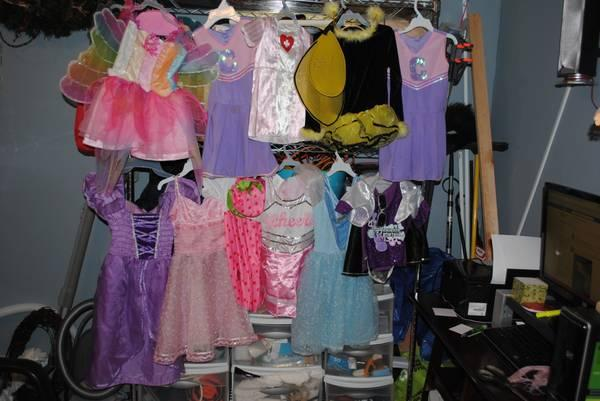 Little Girls Dress up Clothes,shoes and Tutus - $55