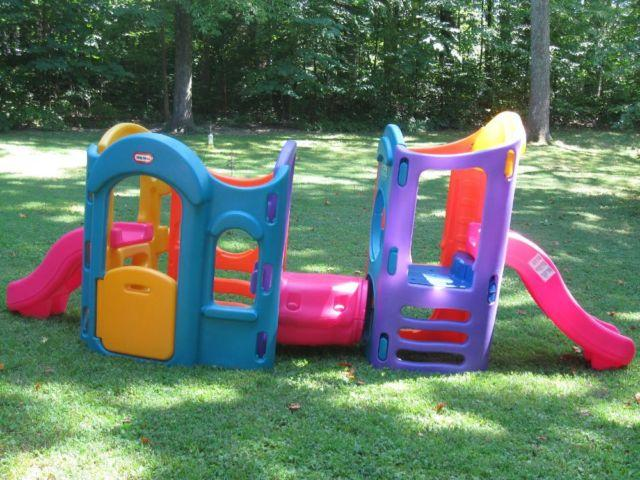 Little tikes 8 in 1 adjustable outdoor playground activity for Little tikes outdoor playset