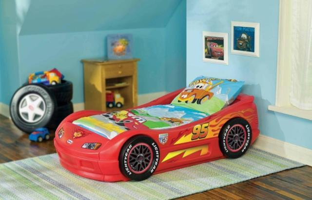 Little Tikes Lightning McQueen Toddler Car Bed Red Sport ...