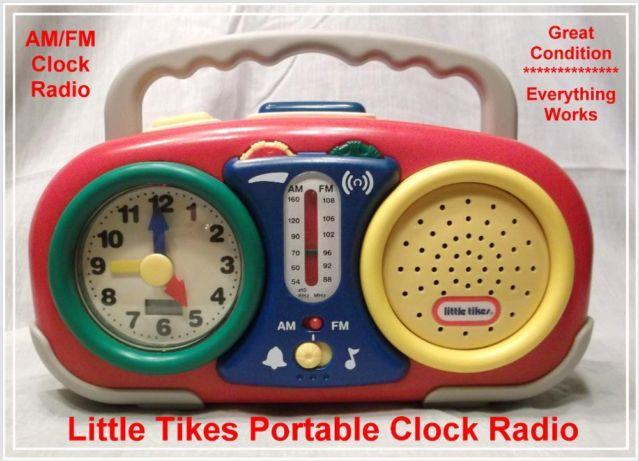 little tikes portable am fm clock radio for sale in bruce wisconsin classified. Black Bedroom Furniture Sets. Home Design Ideas