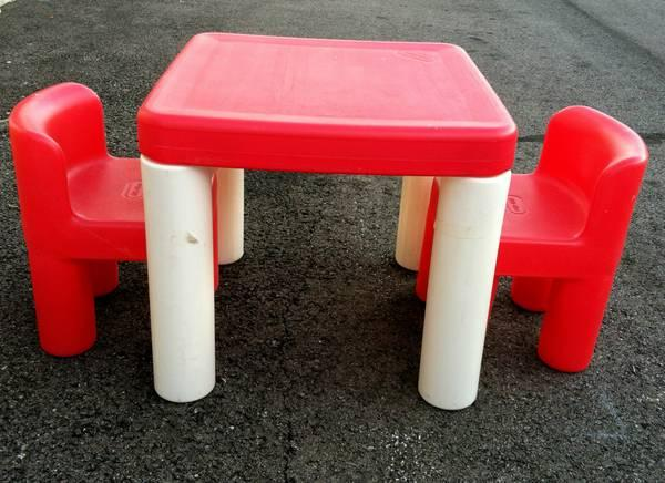 LITTLE TIKES TABLE AND CHAIRS - $25