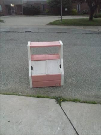 LITTLE TIKES TOY BOX WITH SHELF - $30