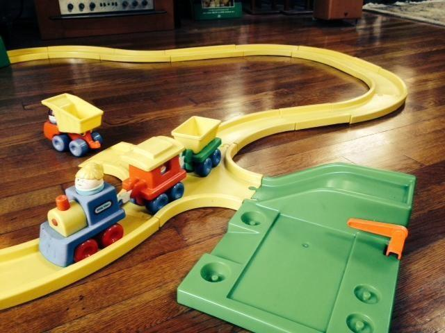 Little Tikes Train set, includes tracks, train, people. tunnel, truck