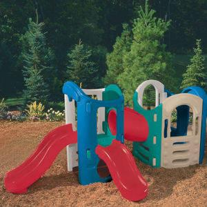 Little tikes 8 in 1 adjustable playground for sale in for Little tikes outdoor playset