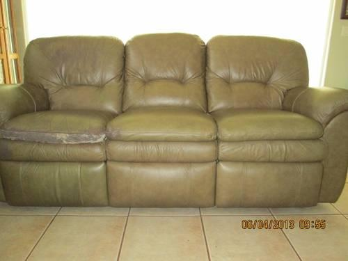 Liv Room Leather Sofa, Loveseat, coffee table, end