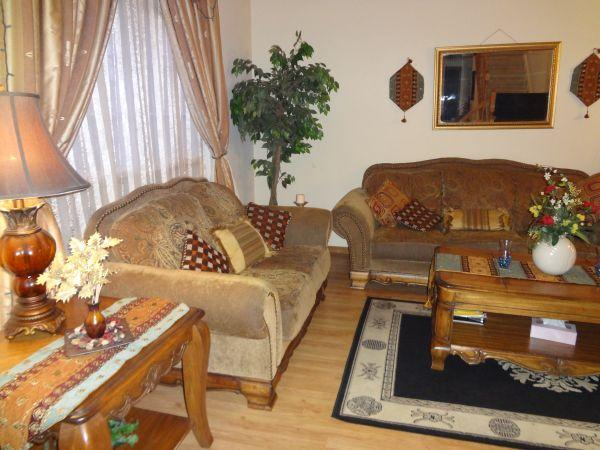 Living Room And 6 Pc Dining Table Furniture Set   $700