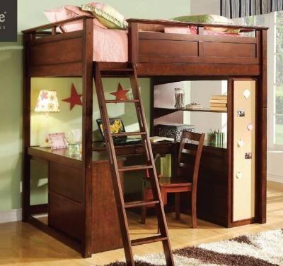 Loft Bed Computer Desk, full size - (Roseburg) for Sale in Roseburg ...