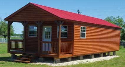 Log Cabin 16'x40' Portable Building