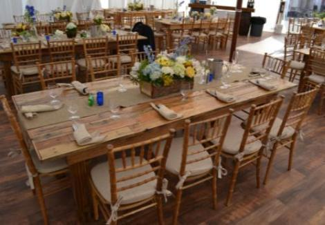 Long Wooden Farm Tables Wedding Rentals Custom Rustic