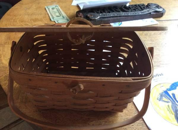 Longaberger Baskets Collectiable Homemade For Sale In