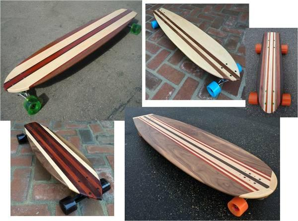 Longboard & Skateboard- Custom Made of Solid Wood