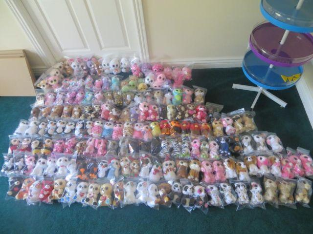 LOT NEW TY BEANIE BOOS COLLECTION 2 DISPLAY RACK
