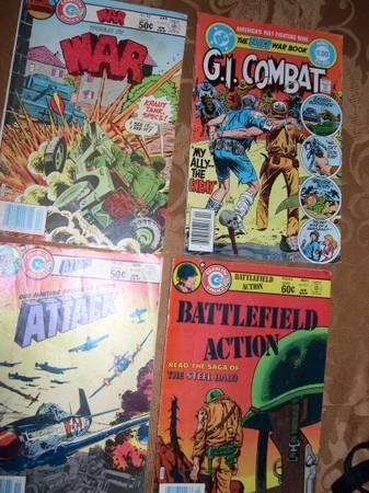 Lot of  40 Vintage Military Comic Books - $85