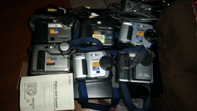 Lot of Sony Mavica Digital Cameras