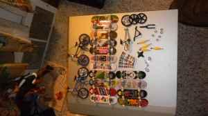lot of tech deck skateboards and bikes - $15 charlestown,IN