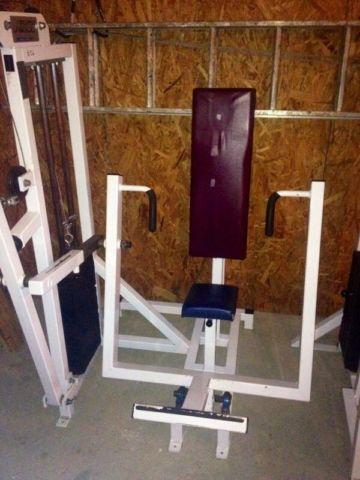 Lot of Weight Training Machines